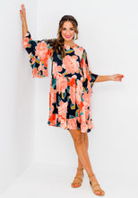 Load image into Gallery viewer, COCO PRINT FLUTTER SLEEVE DRESS