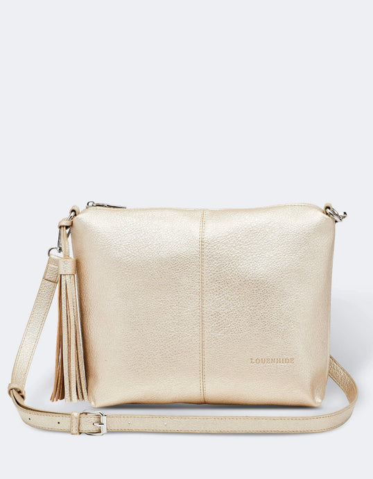 LOUENHIDE DAISY CROSSBODY BAG- GOLD