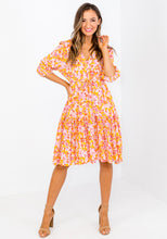 Load image into Gallery viewer, EMELIA TIE WAIST DRESS - FLORAL