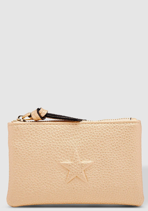 LOUENHIDE STAR PURSE CHAMPAGNE
