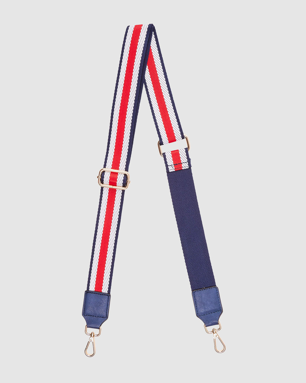 LOUENHIDE GILLY GUITAR STRAP - NAVY RASPBERRY STRIPE
