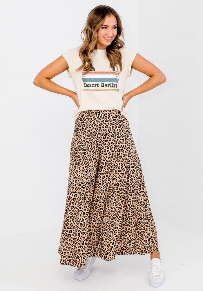 Load image into Gallery viewer, HUXLEY PALAZZO PANT - LEOPARD PRINT