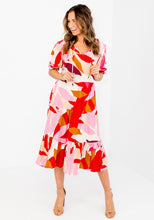 Load image into Gallery viewer, JAZZ PRINT TIERED MIDI DRESS