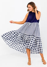Load image into Gallery viewer, JOSIE SPLICED SWING DRESS - NAVY