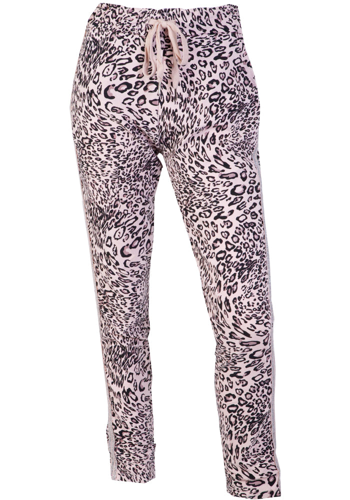 KAVALLA STRETCH PULL ON PANTS - BLUSH LEOPARD
