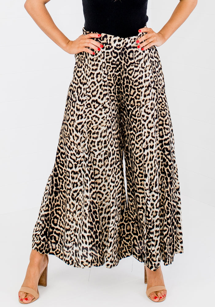 KINDRED PALAZZO PANTS - LEOPARD