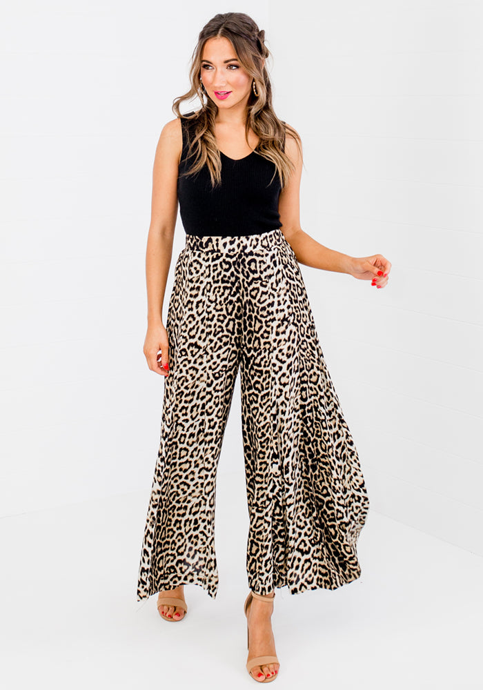 Load image into Gallery viewer, KINDRED PALAZZO PANTS - LEOPARD
