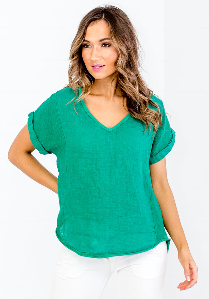 LA STRADA SUMMER GREEN SHIRT