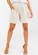Load image into Gallery viewer, LAYE LINEN SHORTS - STONE