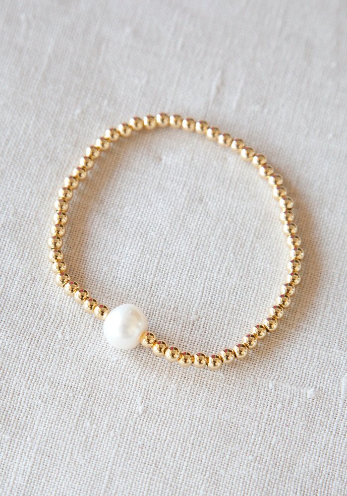 Load image into Gallery viewer, LOLITA'S PEARLS - CAPRI BRACELET - GOLD