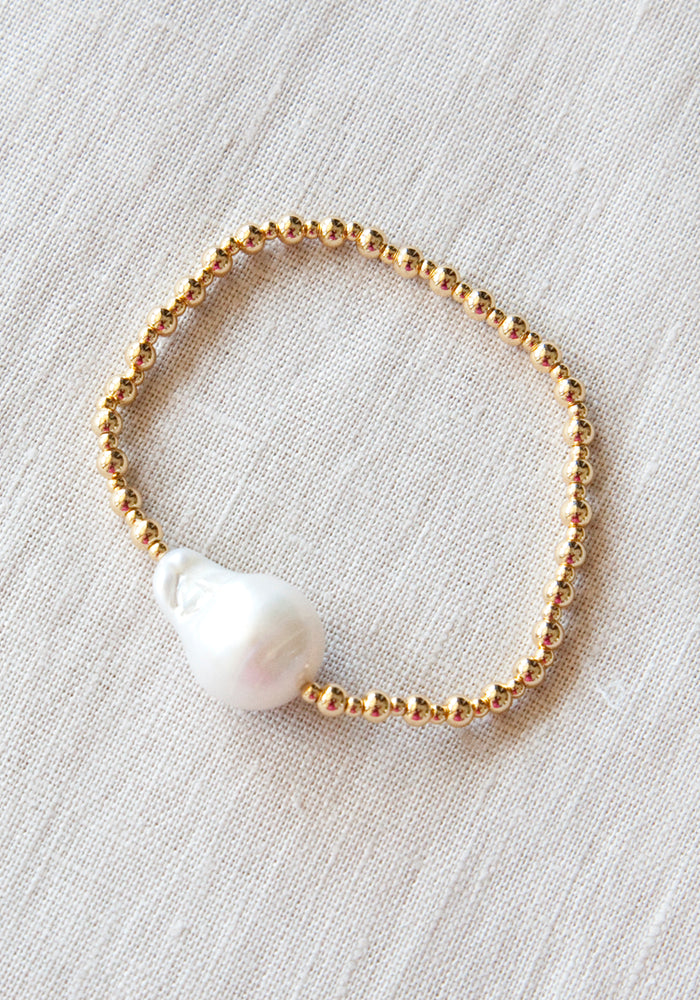 Load image into Gallery viewer, LOLITA'S PEARLS - POSITANO BRACELET - GOLD
