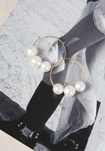 Load image into Gallery viewer, LOLITA'S PEARLS SMALL TOKYO HOOP - GOLD
