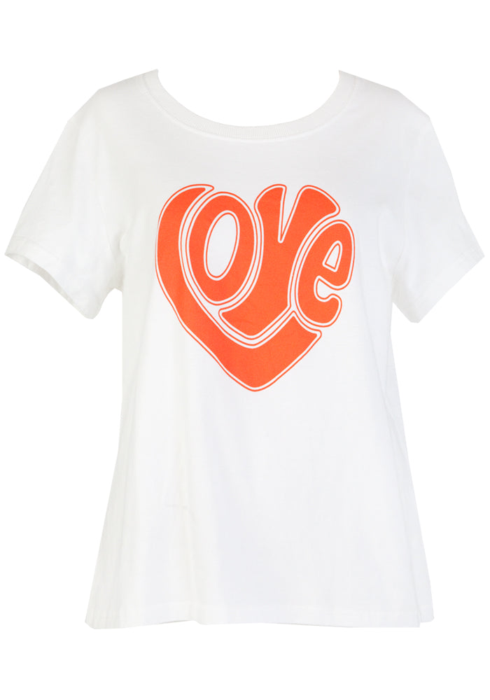 Load image into Gallery viewer, LOVE VINTAGE TEE - WHITE COTTON