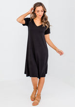 Load image into Gallery viewer, BAMBOO MADONNA DRESS - BLACK