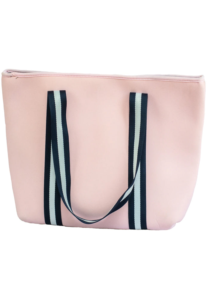 MANHATTAN NEOPRENE TOTE BAG- WITH ZIP CLOSURE- PINK