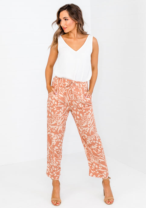 MILA PRINT TAPERED PANT