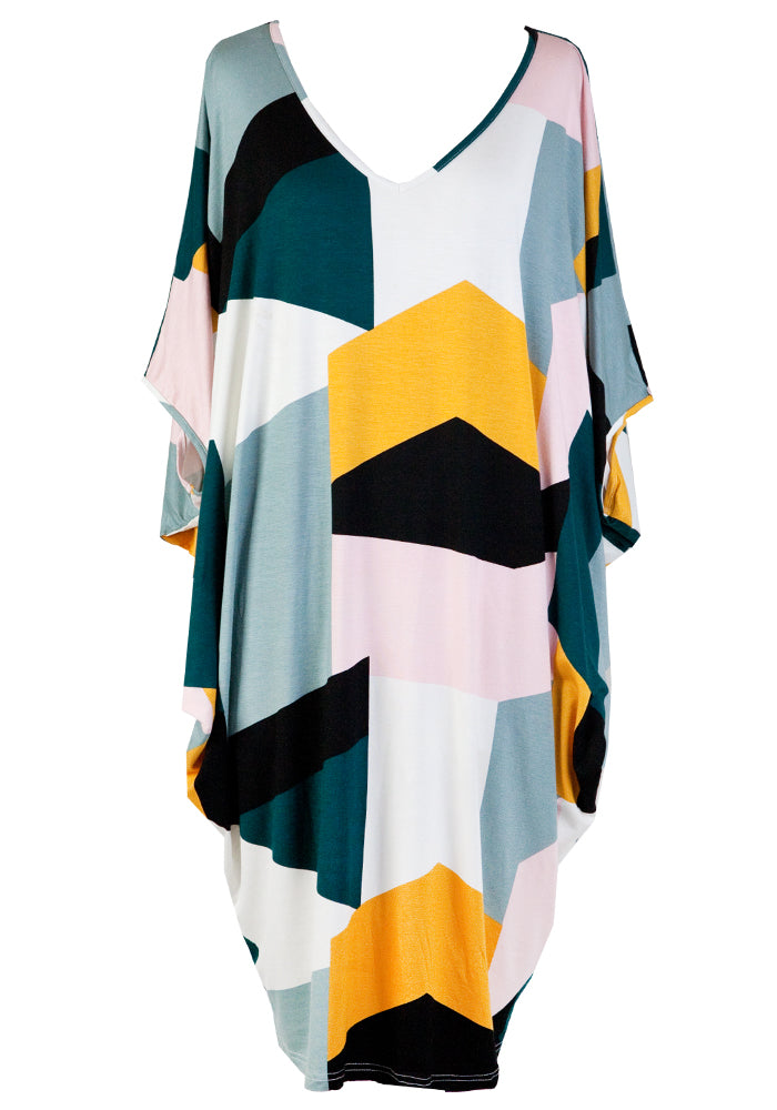 Load image into Gallery viewer, MIRACLE DRESS - KALEIDOSCOPE PRINT