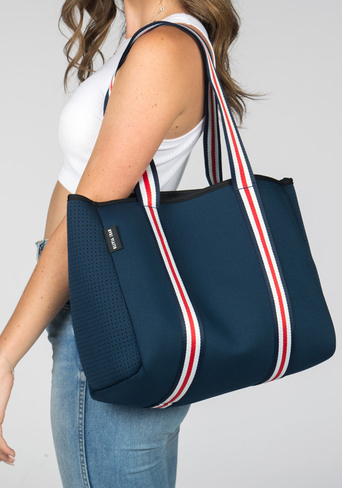 NOOSA NEOPRENE TOTE BAG- NAVY