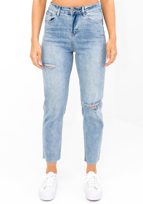 COMING SOON - OLIVA DISTRESSED JEAN