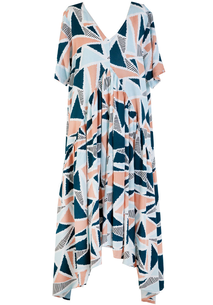 PEAK MAXI DRESS - SANDCASTLE PRINT