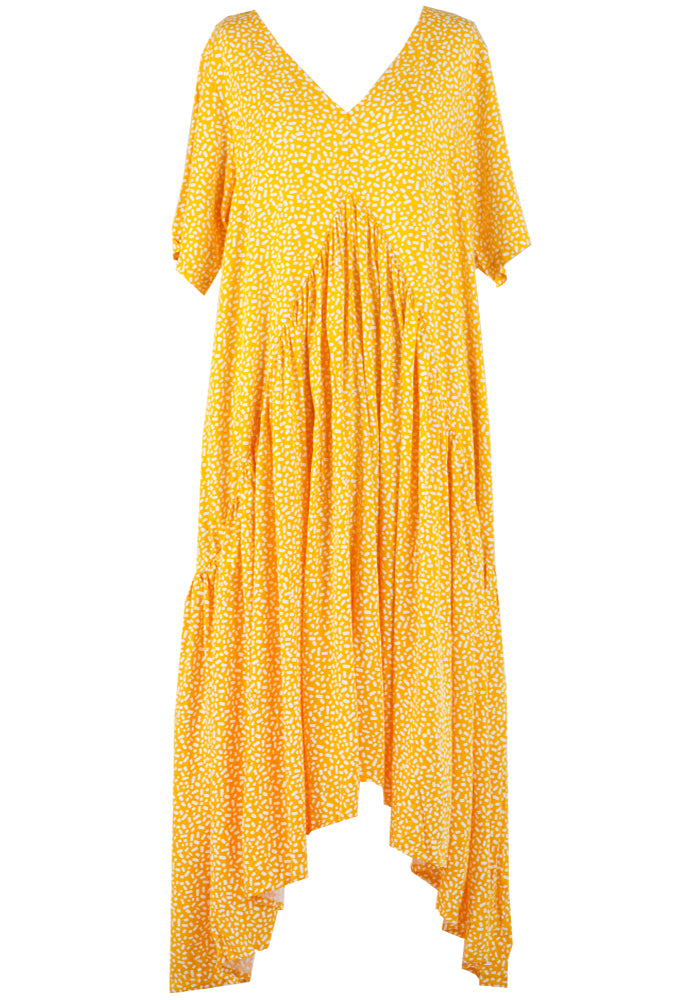 Load image into Gallery viewer, PEAK MAXI DRESS - SUNSHINE PRINT