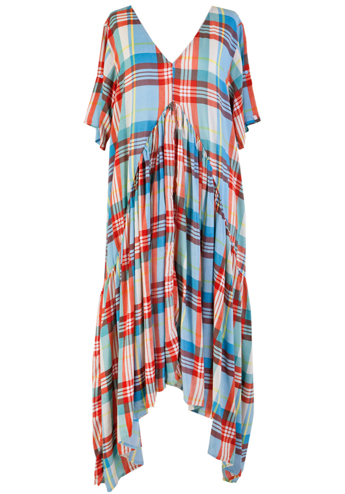 PEAK MAXI DRESS - RAINBOW PLAID