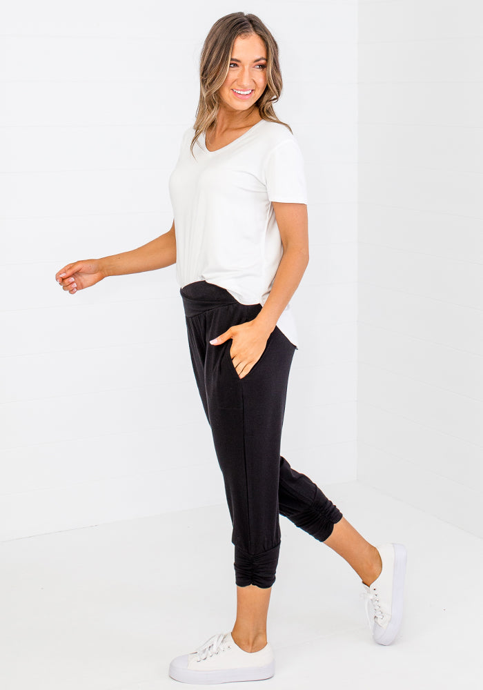 Load image into Gallery viewer, BAMBOO PERRY PANTS - BLACK