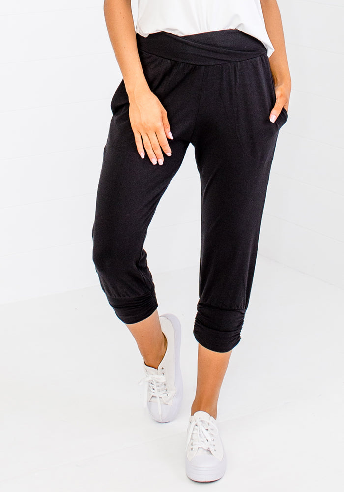 BAMBOO PERRY PANTS - BLACK