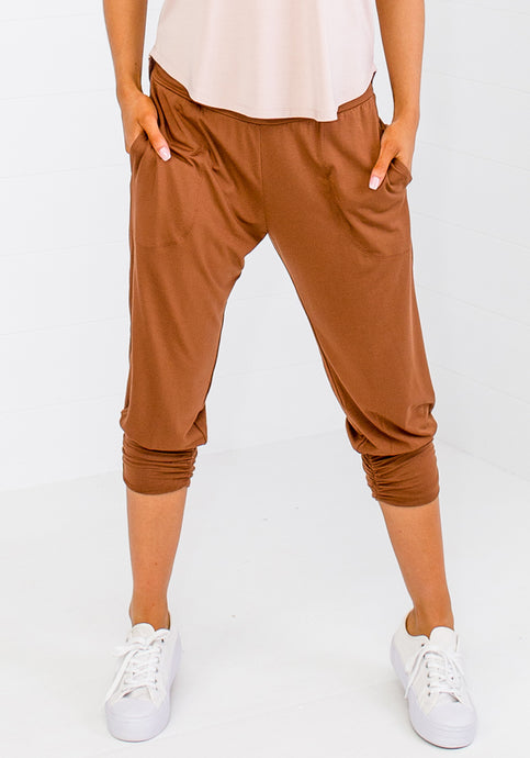 BAMBOO PERRY PANTS - TOFFEE