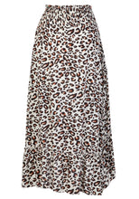 Load image into Gallery viewer, SPLENDOUR SHIRRED WAIST HI-LOW MIDI SKIRT