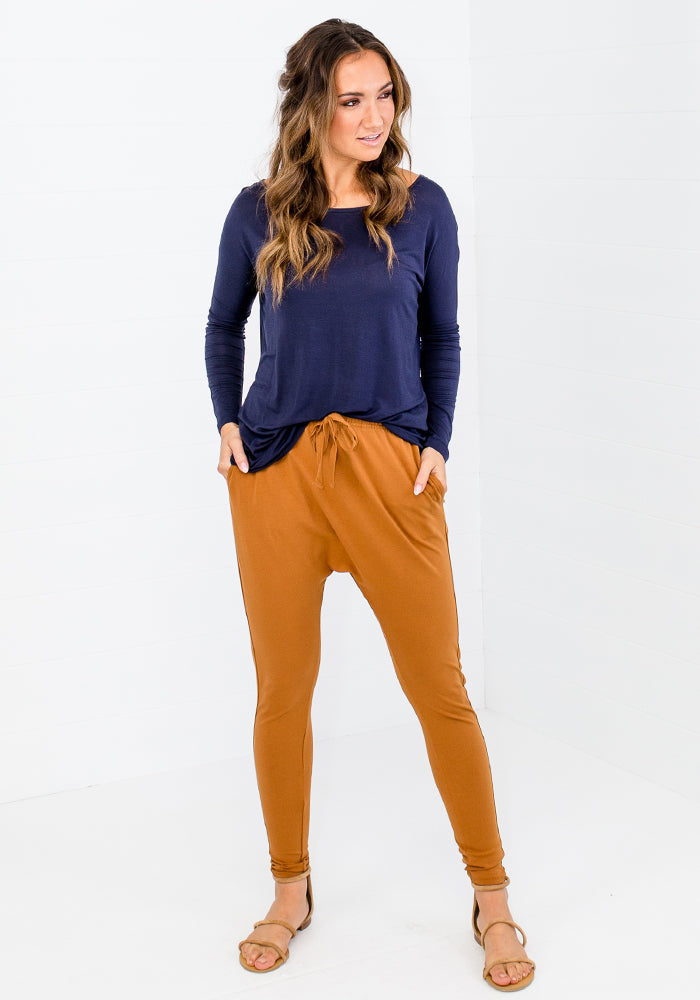 Load image into Gallery viewer, POLLY TIE WAIST JOGGER - MUSTARD