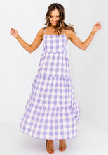 Load image into Gallery viewer, STELLA GINGHAM MAXI DRESS - LILAC