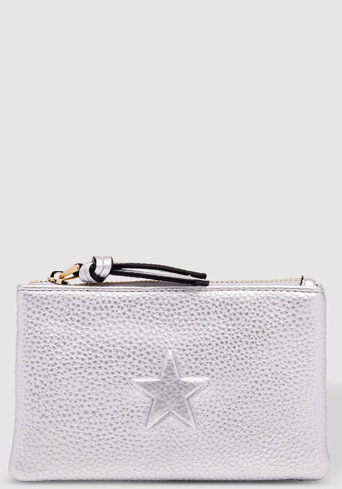 LOUENHIDE STAR PURSE SILVER