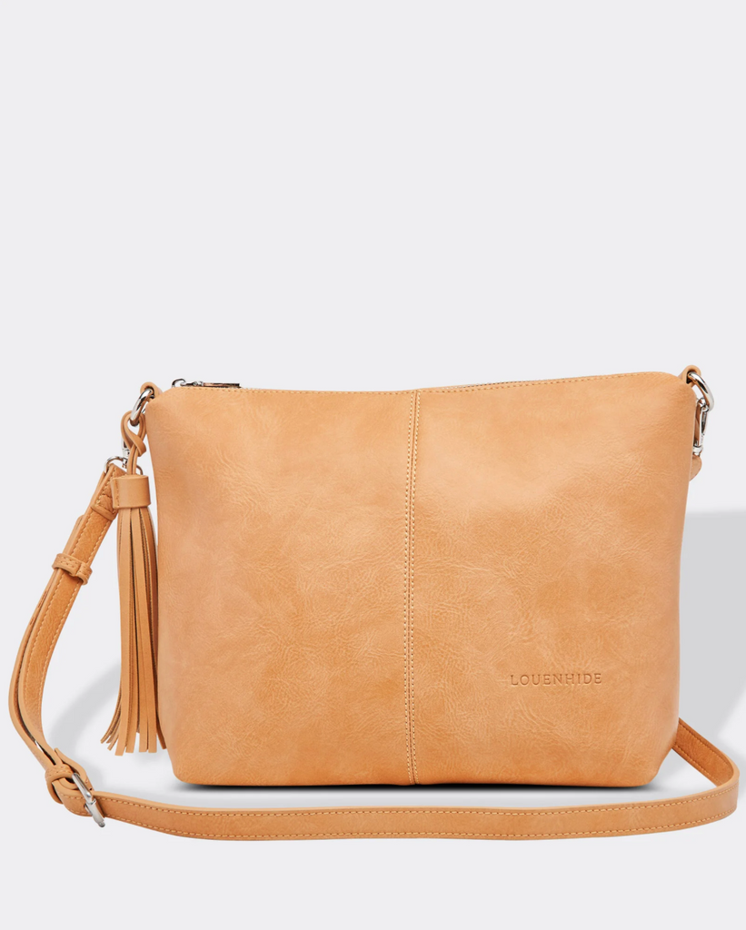 Load image into Gallery viewer, LOUENHIDE DAISY CROSS BODY BAG - CAMEL