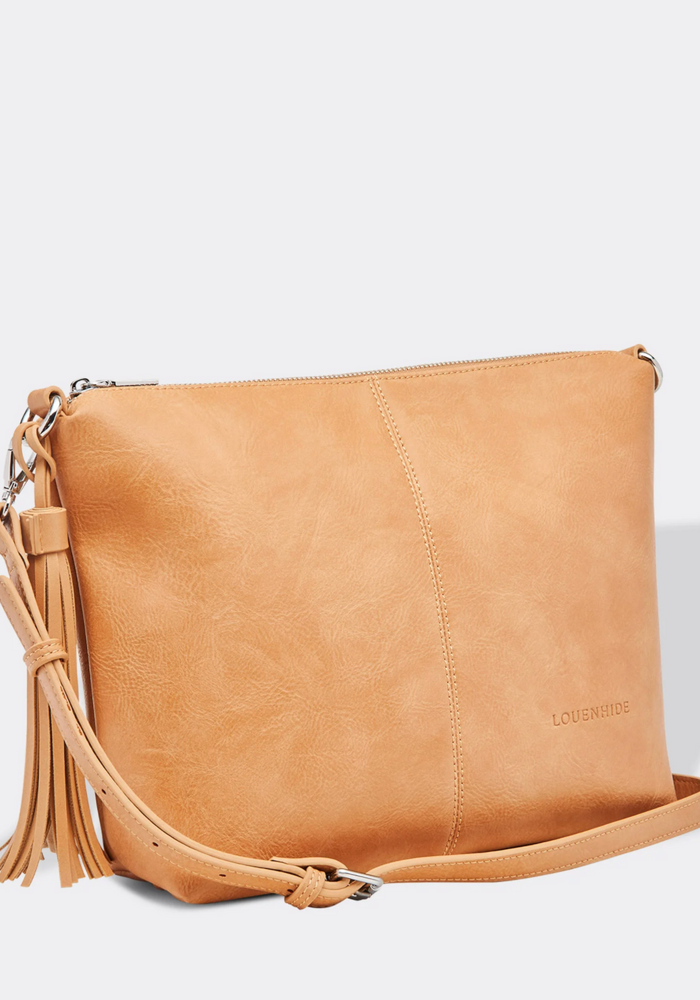 LOUENHIDE DAISY CROSS BODY BAG - CAMEL