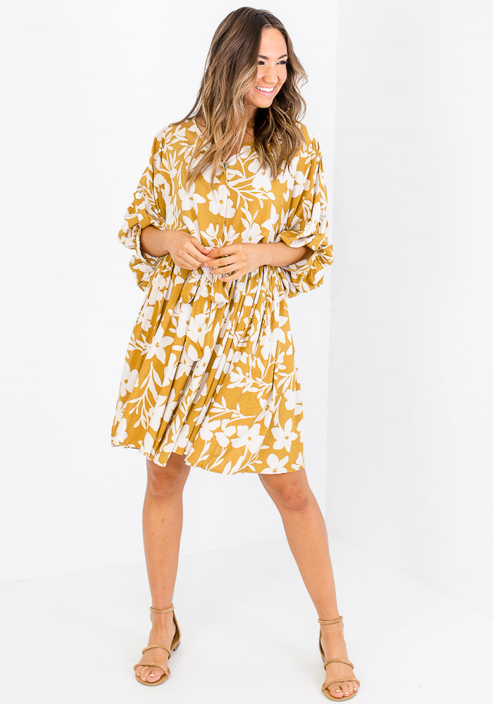 Load image into Gallery viewer, ALLIE BUTTON MINI DRESS - FLORAL