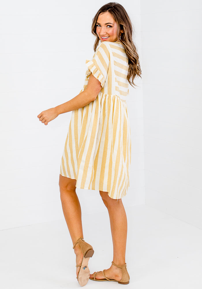 MAGGIE STRIPE COTTON DRESS - MANGO