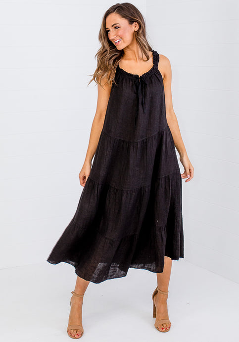 LOVE FROM ITALY SUMMER PICNIC MAXI - BLACK