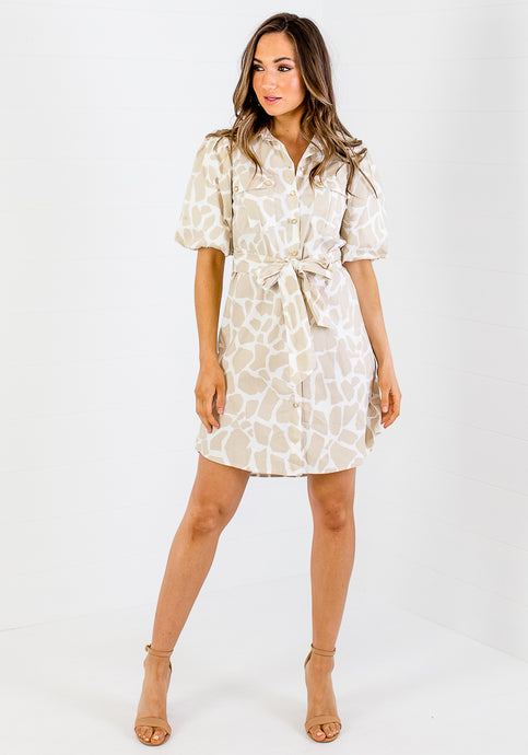 KEATON BUTTON DOWN MINI - NATURAL