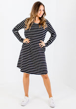 Load image into Gallery viewer, BETTY BASICS ELLIE DRESS - STRIPE
