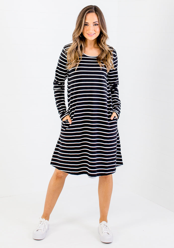 BETTY BASICS ELLIE DRESS - STRIPE