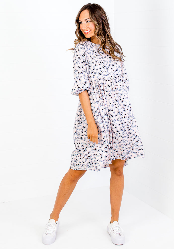 Load image into Gallery viewer, TATUM BABYDOLL DRESS - SPOT PRINT