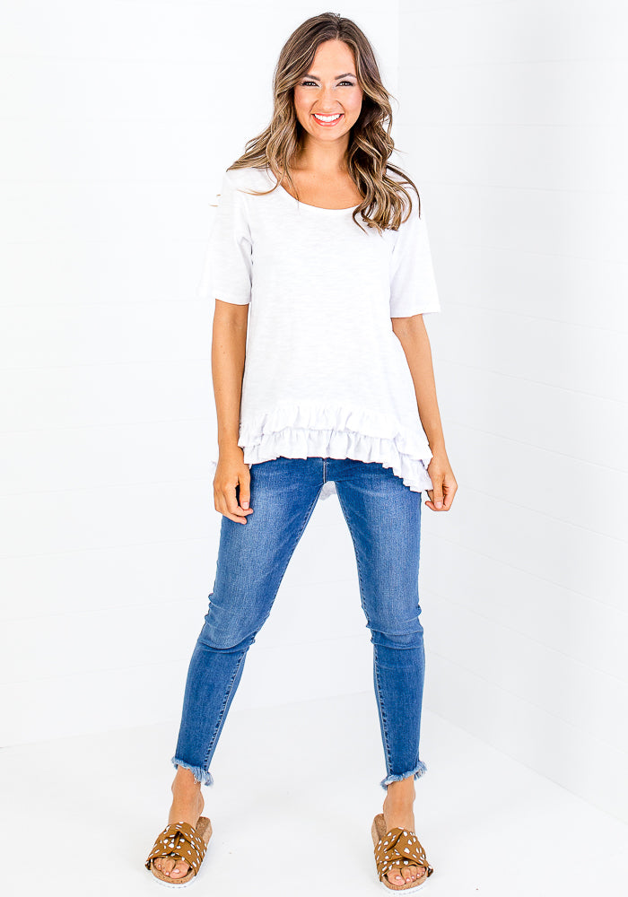 Load image into Gallery viewer, BETTY BASICS SORRENTO TEE - WHITE