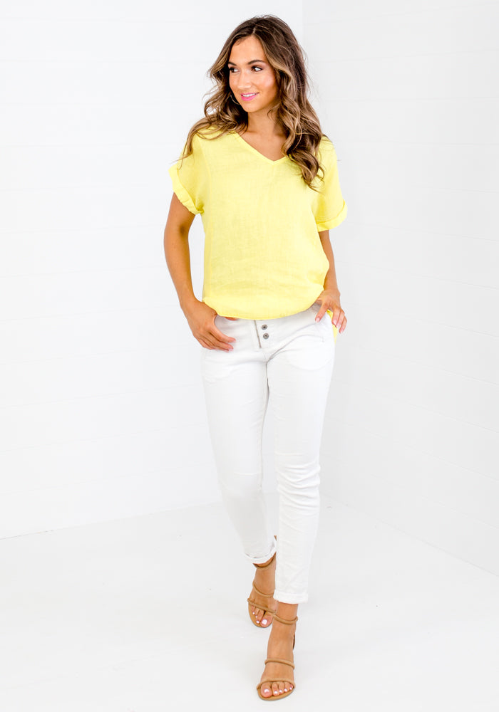 LA STRADA SUMMER YELLOW SHIRT