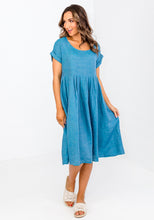 Load image into Gallery viewer, TAMMY LINEN DRESS - TEAL