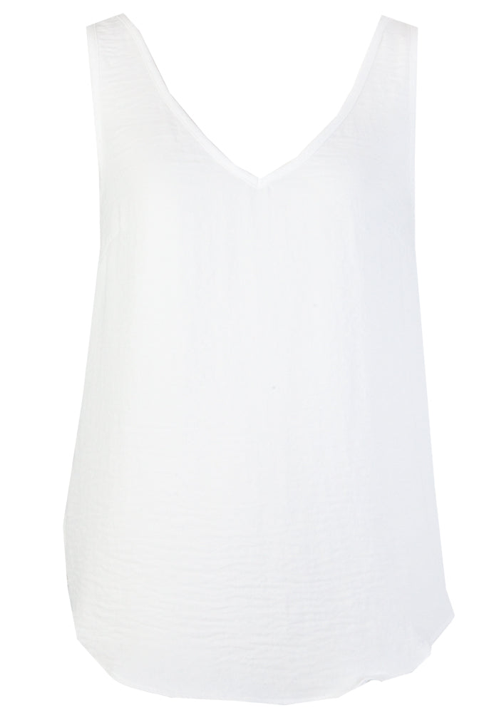 TILDA V FRONT AND BACK CAMI - WHITE