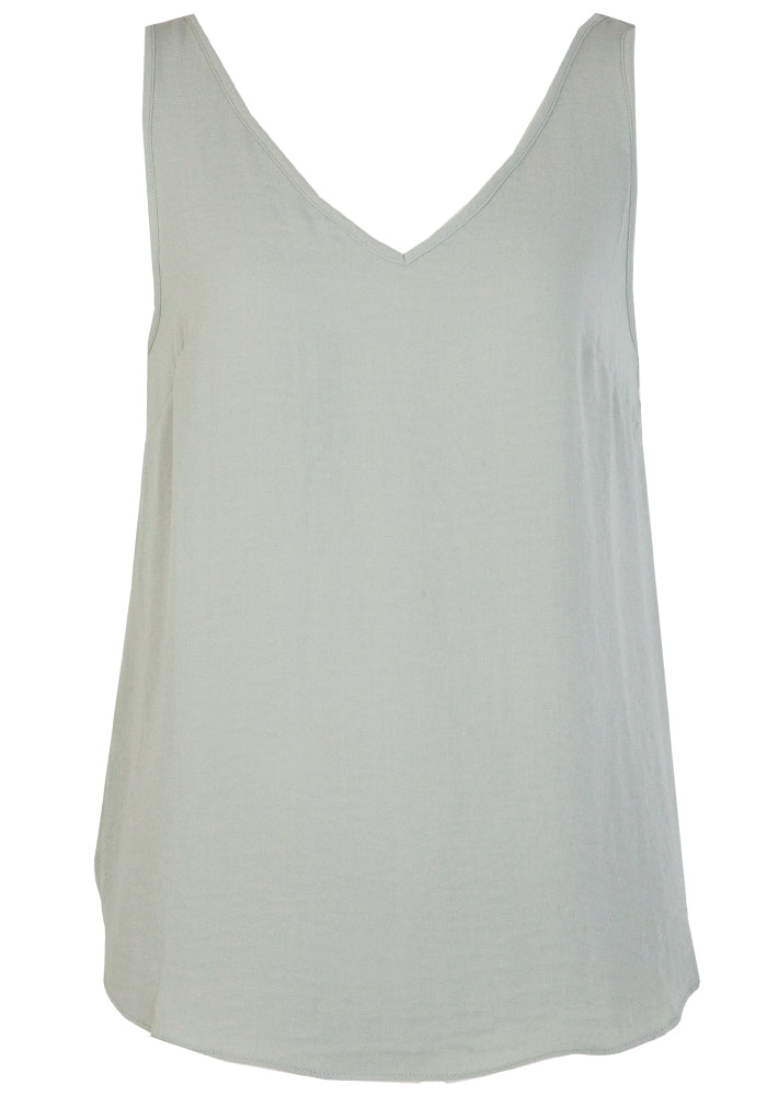 TILDA V FRONT AND BACK CAMI - SAGE