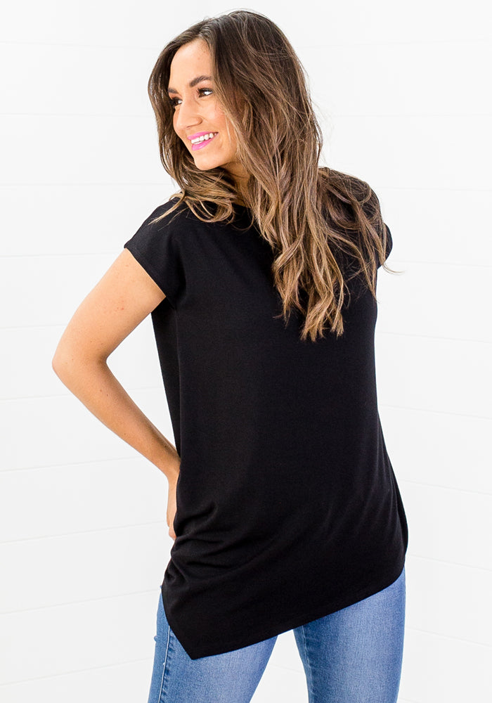 Load image into Gallery viewer, BAMBOO TONI TEE - BLACK