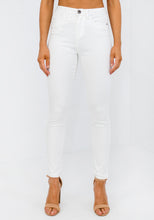 Load image into Gallery viewer, WHITE HI RISE STRETCH JEAN