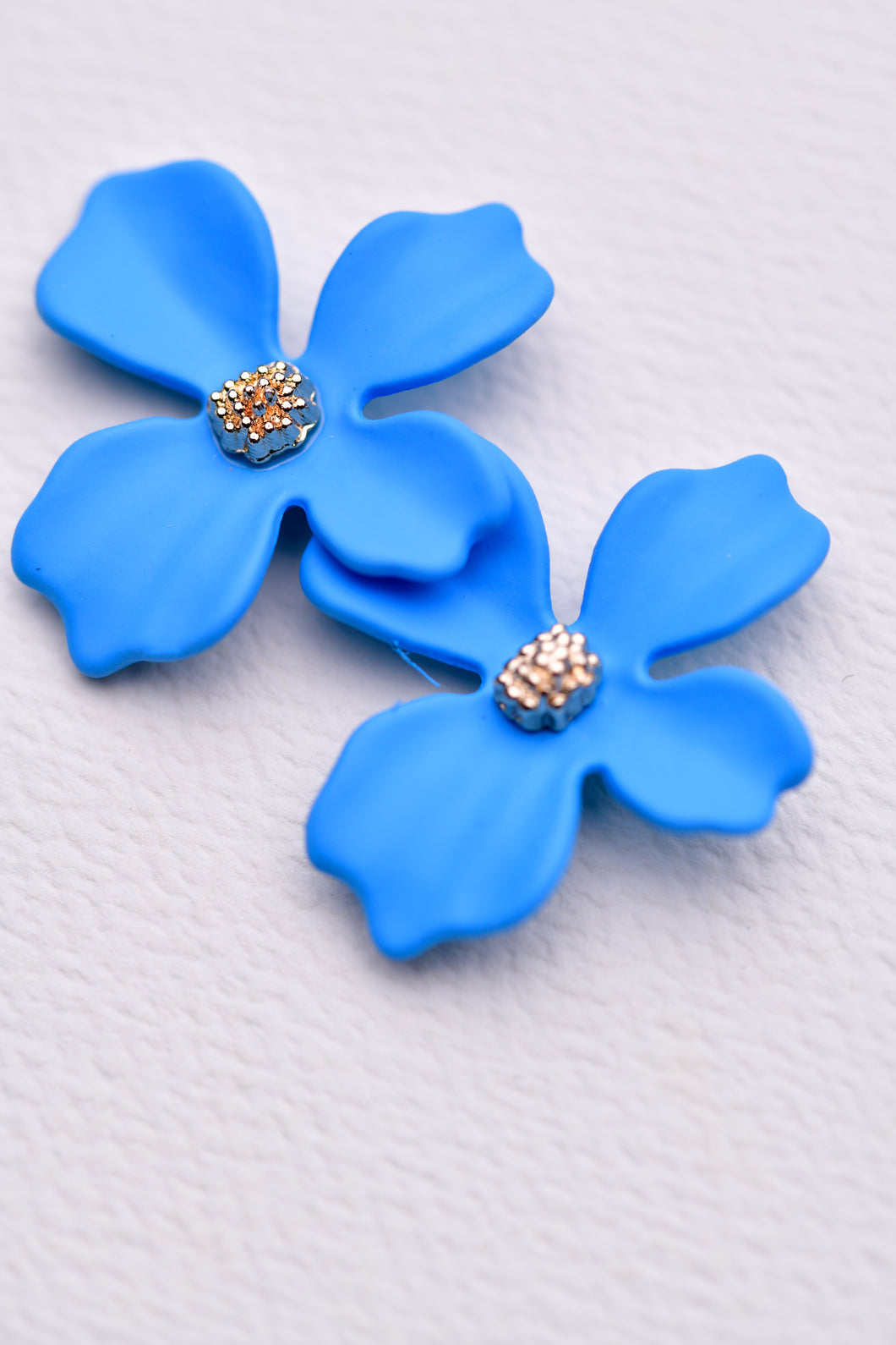 ZAFINO - SMALL ORCHID FLOWER STUD EARRING - BLUE
